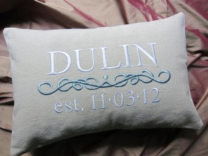 Name Pillows; Baby and Wedding