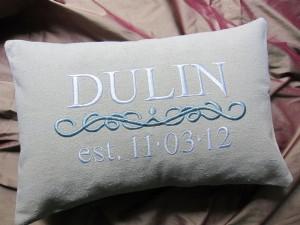 Name Pillows; Baby and Wedding