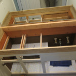 2 x 4 box to raise vanity height.