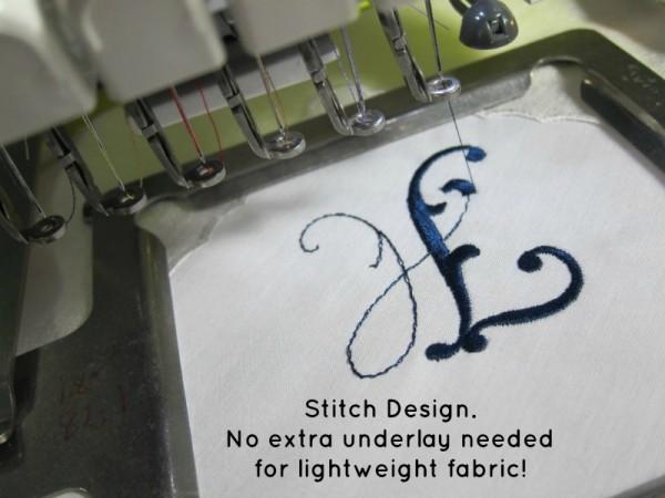 Stitch Design on Hanky