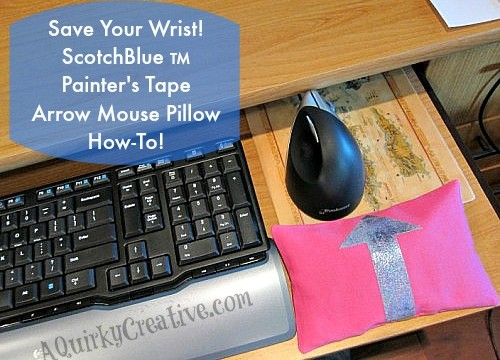 ScotchBlue TM Painters Tape Mouse Pillow Project