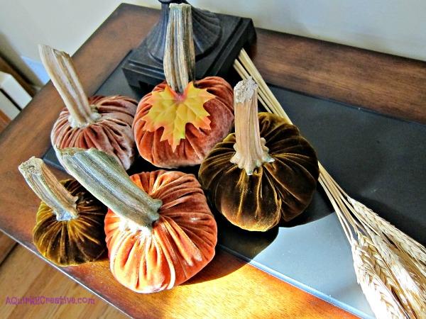 Velvet DIY Pumpkins