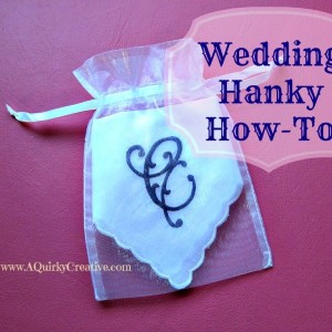 How to Embroider a Wedding Hanky Part 1