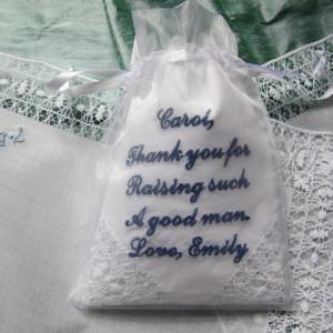 Custom Embroidered Wedding Hankies