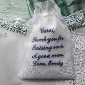 Custom Embroidered Wedding Hankies